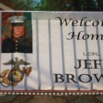 Marine Gets Special Welcome Home Greeting