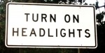 CalTrans To Remove Headlight Signs