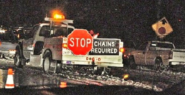Caltrans Reporting Chain Controls On Mountain Highways