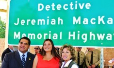 Detective Jeremiah MacKay Memorial Highway Signs Unveiled