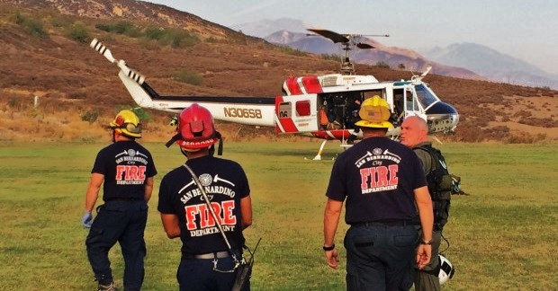 Hang Glider Extracted From Hillside Behind CSUSB