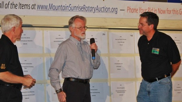 Bid By Phone Or In Person During Mountain Sunrise Rotary Charity Auction