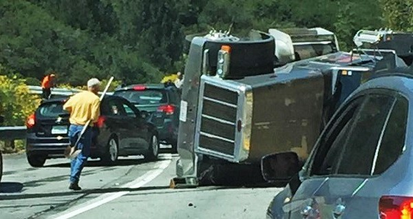 UPDATE: Highway 330 Traffic Impacted By Truck Rollover