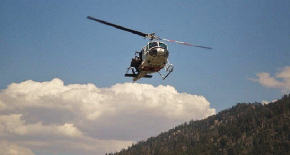 120-Foot Hoist Rescue At Forest Falls