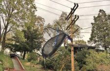 Trampoline Goes Airborne: Edison Crew Jumps To Restore Power