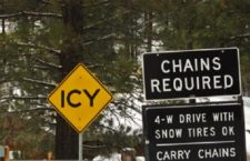 CHAIN CONTROLS: Always Carry Chains And Emergency Supplies In Your Vehicle