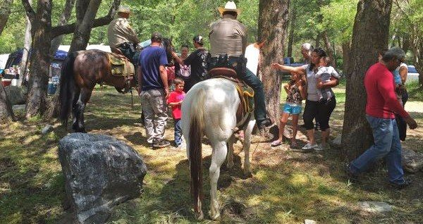 Sheriff's Mounted Enforcement Unit Patrols Section Of San Bernardino National Forest