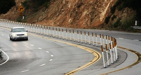 HIGHWAY 18 BARRIER: Delineators About To Disappear (UPDATE 2)