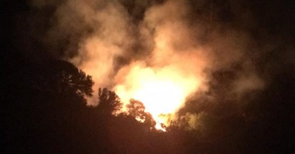 Firefighters Battle Canyon Fire In Lower Waterman Canyon
