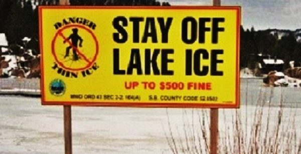 WARNING: Stay Off Lake Ice (VIDEO)