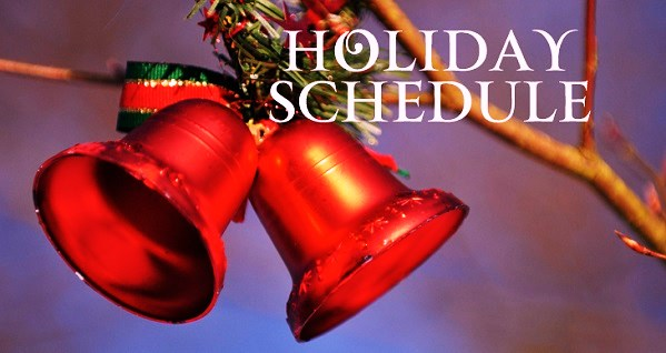 HOLIDAY Closures